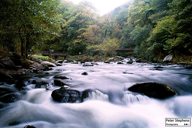 Watersmeet, near Lynmouth, Devon, by Peter Stephens Photography, via Flickr.   Inspiration for Tolkien's Rivendell