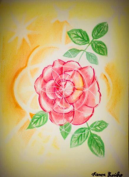 Divine Geometry WF37 神聖幾何学と薔薇です。  B5サイズで  クリアケースに入れてお送りいたします。    ティファニーという美しい薔薇です。    ロマンスと美の女神アフロディーテがいた  薔薇園で    実物と画像の見え方に差異がございます。    ご縁のあった方に心を込めて・・