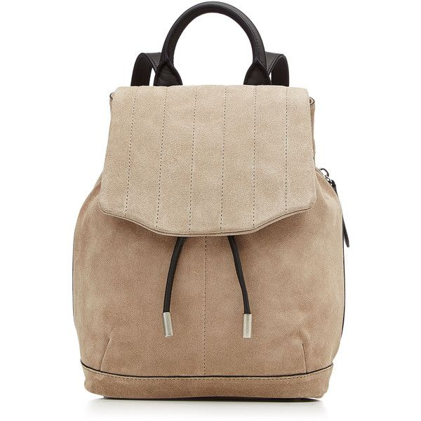 Rag & Bone Pilot Suede Backpack ($495) ❤ liked on Polyvore featuring bags, backpacks, backpack, beige, oversized bag, rag & bone, single shoulder bag, knapsack bags и one shoulder backpack