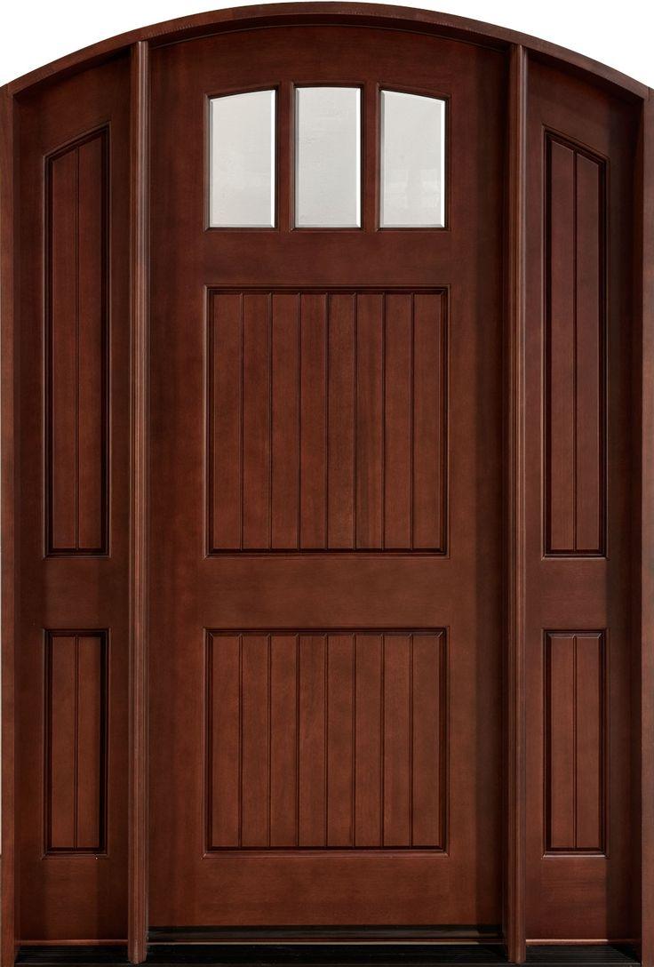 Craftsman Solid Wood Front Doors