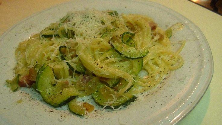 Спагетти Карбонара с Кабачками и Мускатом Spaghetti Carbonara con Zucchini