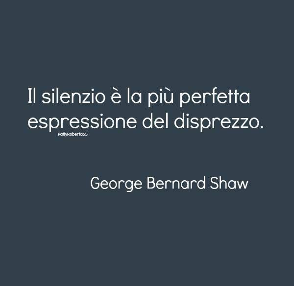 Il silenzio ...