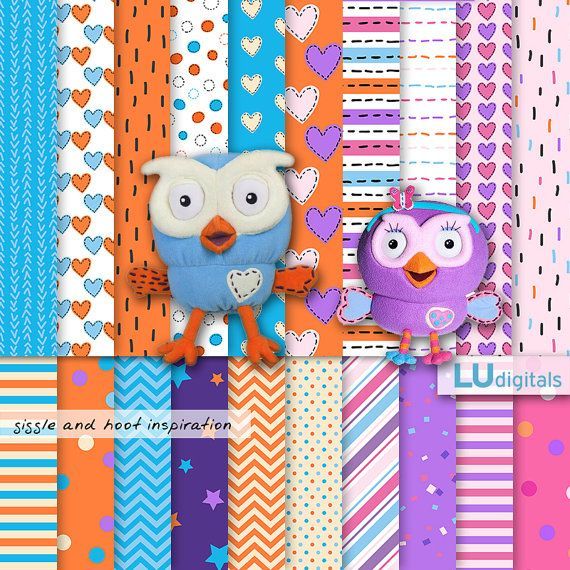 Giggle and Hoot digital paper Jimmy Giggle cute owl background party printable pattern scrapbooking birthday decoration invitation graphics on Etsy, $4.11 AUD