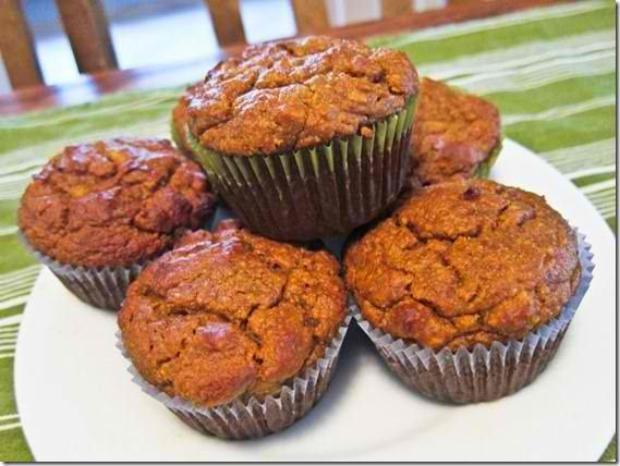 Almond flour pumpkin muffins - soooo good!  Make it with applesauce instead of pumpkin, that's great, too!