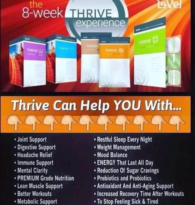 #thrive #thrive8weekexperience #thriving #nutrition #healthy #mentalclarity #immunesuppport #thrivearmy  FREE CUSTOMER ACCOUNTS! bporr.le-vel.com