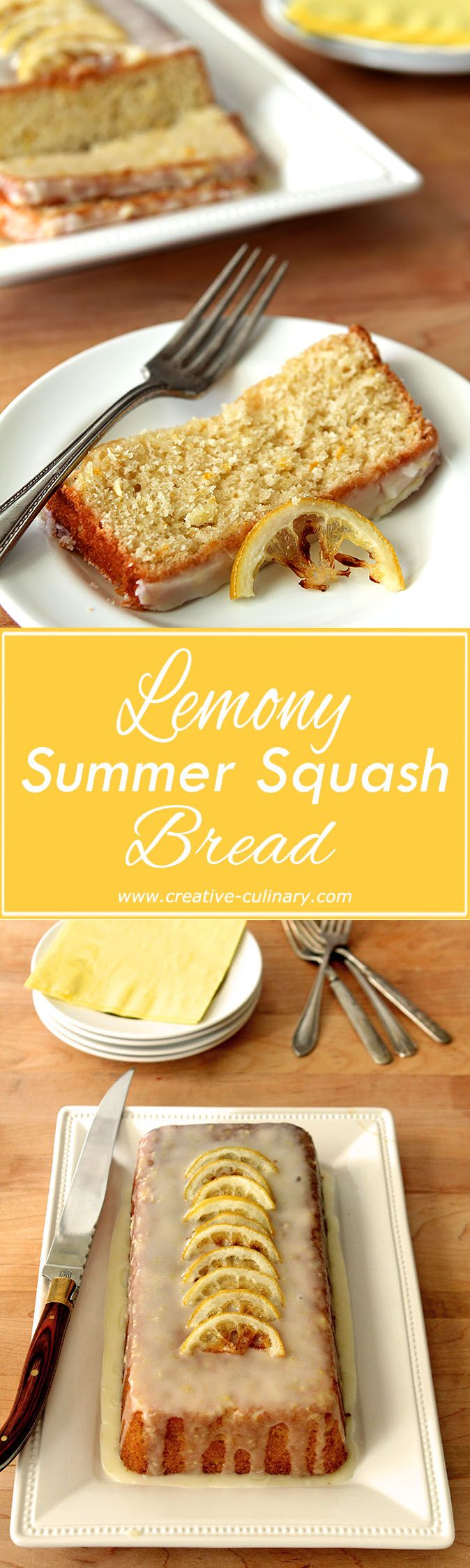 Forget zucchini; try making bread with yellow summer squash. This Lemon Summer Squash Bread is AMAZING! via @creativculinary