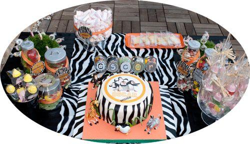 Happy Party: Cumpleaños con inspiración personajes de Madagascar