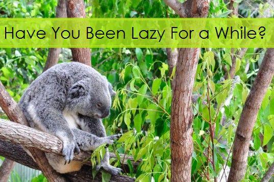First of all, I think there is nothing wrong with lazy so don't deny it if you ARE.  Lazy is a type of rest, in my opinion; however it definitely 'hurts' when extends for too long. I have personally noticed that if I take a break from whatever I am doing, I am most likely to feel double tired during the resting period AND end up finding it hard returning to fitness mode. Is it true for you too?