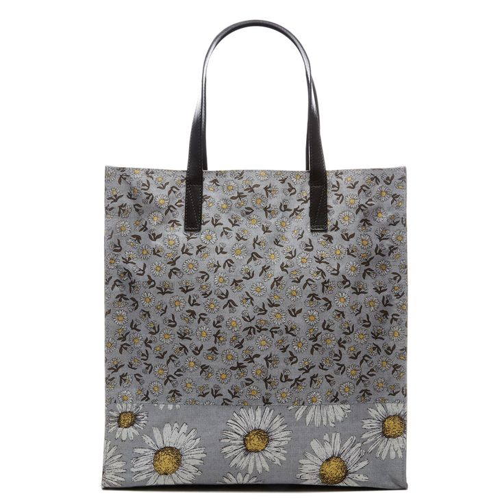 MARC JACOBS B.Y.O.T. Mixed Daisy Flower North/South Tote. #marcjacobs #bags #shoulder bags #hand bags #polyester #leather #tote #