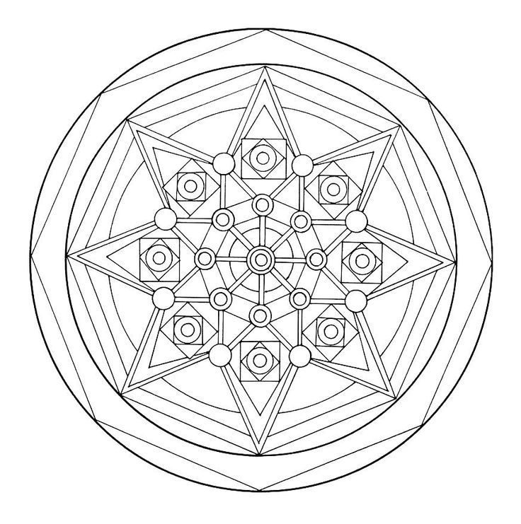 52 best Mandala  Coloring Pages images on Pinterest  Adult