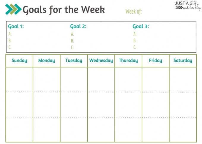 Calendar Year Goals Record : Best goals printable ideas on pinterest free