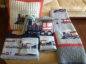 Hillcrest Chain of Trains Twin Bedding Set | Twin beds ...