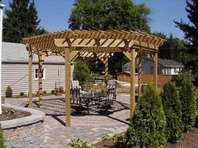 Exceptional Free Standing Pergola For Patio Cover By Archadeck