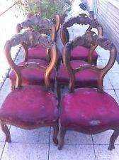 6 sedie antiche .adue manca un pezzo di spalliera da restaurare
