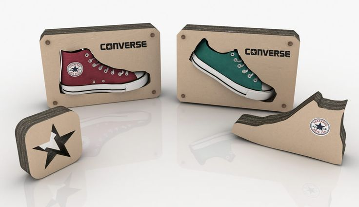 Eco friendly Displays for Converse by That Design Company.