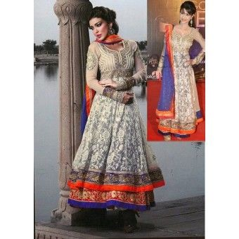 @ $141 Colors Awards Anarkali with FREE shipping and FREE stitching offer.