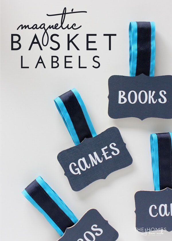 Use Magnetic Basket Labels to label your bins and baskets without any damage or permanence!