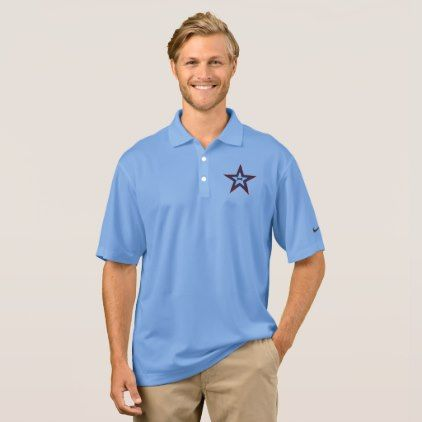 SPORTS SHIRT NIKE DRI THE FIT   TEXAS STAR - blue gifts style giftidea diy cyo