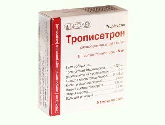 Трописетрон 5мг/5мл 5 купить с Бесплатной Доставкой
