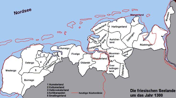 Friesische Seelande um 1300 - Grote Friese Oorlog - Wikipedia