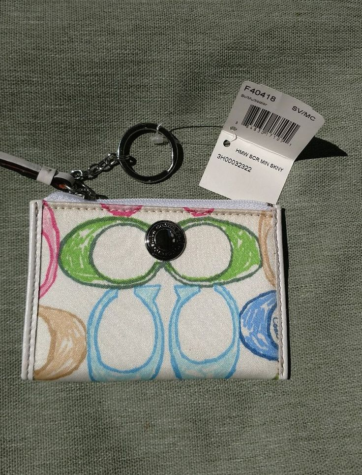 NEW Coach 40418 Hamptons Scribble Mini Skinny Wallet Coin Purse Card Case Key  | Clothing, Shoes & Accessories, Women's Accessories, Wallets | eBay!