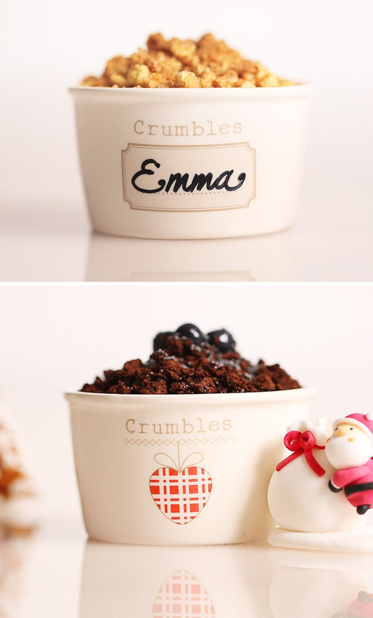 The limited edition 2015 of Crumbles cups from Gelateria La Romana.