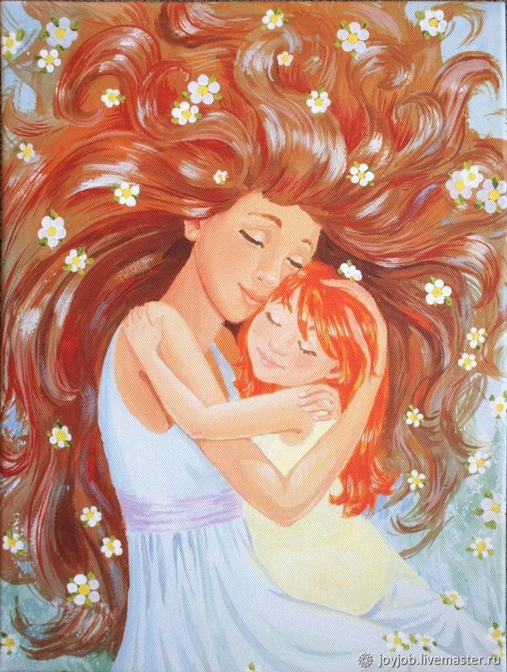 Надписями, мать и дочь картинки для детей