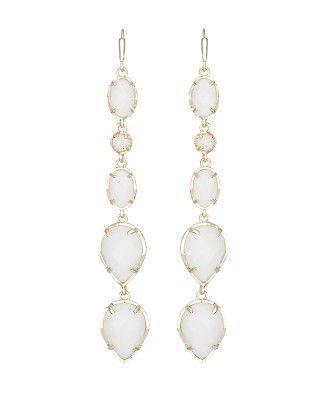 Byron Long Earrings in White - Kendra Scott Jewelry. Coming soon!