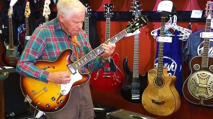 81-Year-Old Grandpa Plugs In Guitar, Stuns Entire Shop Staff - Society Of Rock/ https://www.facebook.com/britishaudioservice/videos/937473039599414/