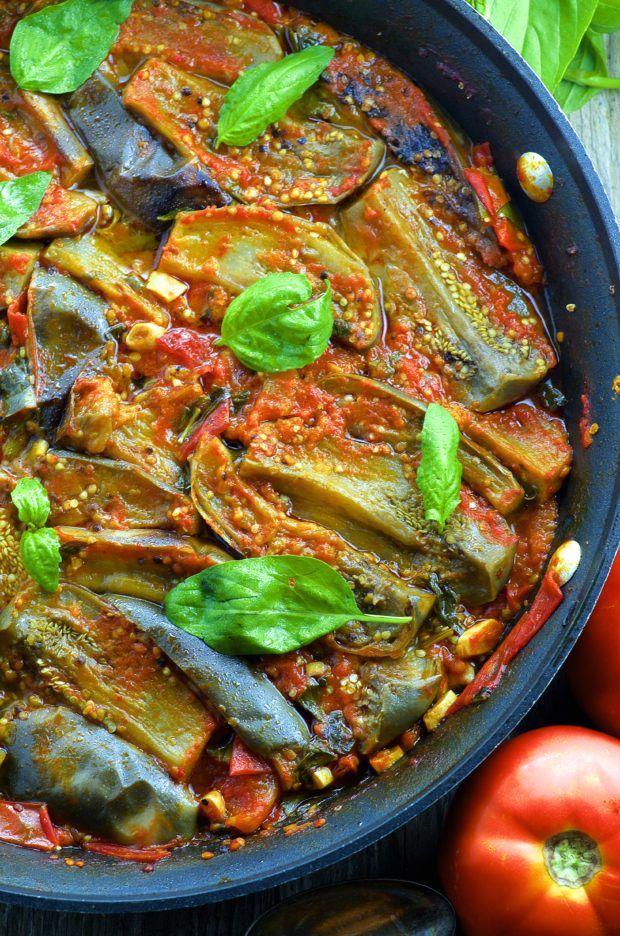 Braised Eggplant in Fresh Tomato Sauce