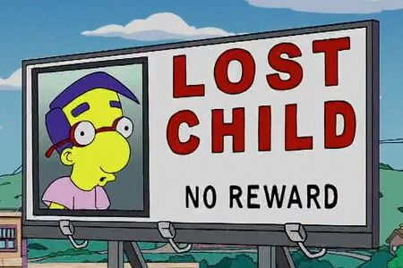 I love that they went to the trouble of getting a billboard, yet have no reward. LOL! Poor Milhouse!