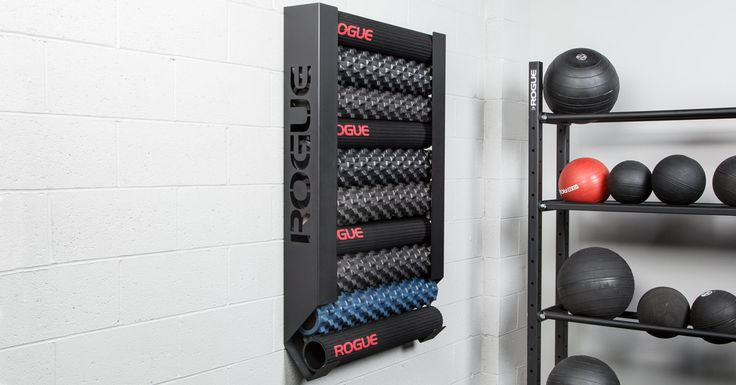 The rogue wall mount foam roller storage is a simple and