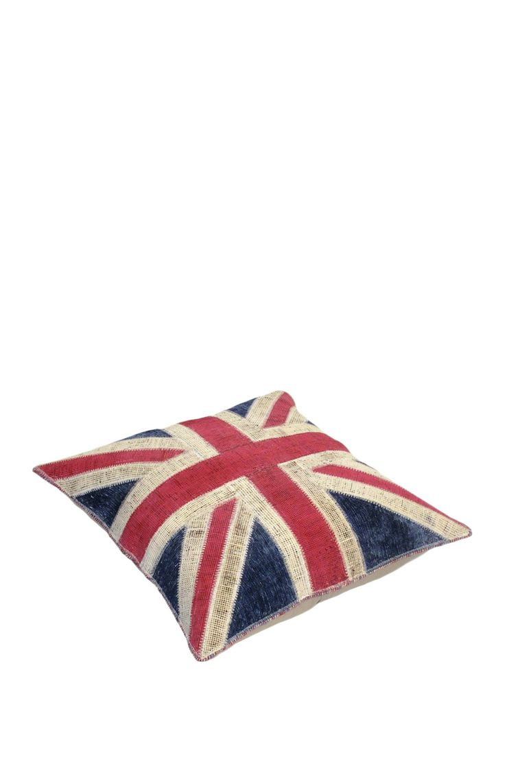 Union Jack Patchwork Red/White/Blue Floor Cushion