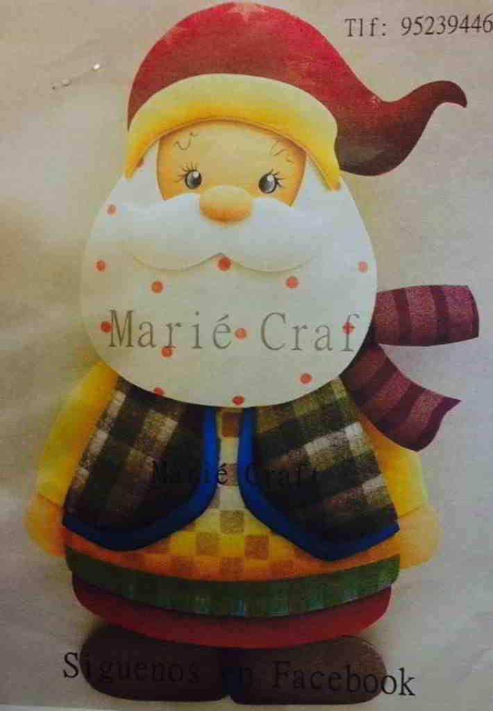 Molde: Noel colorido en Foamy