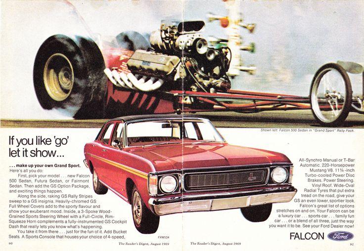 https://flic.kr/p/eYGtcW | 1969 XW Ford Falcon GS Aussie Original Magazine Advertisement