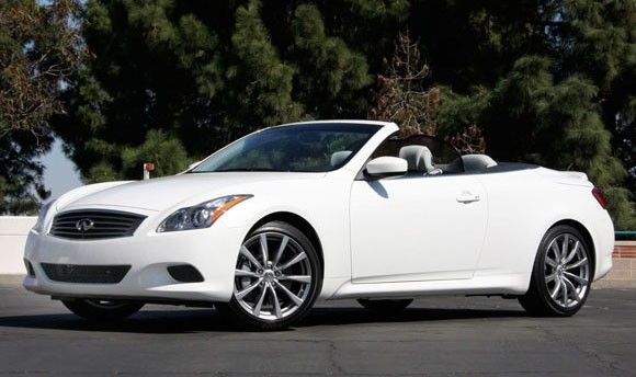 I like this white hardtop Infiniti G37 convertible as well...decisions, decisions.