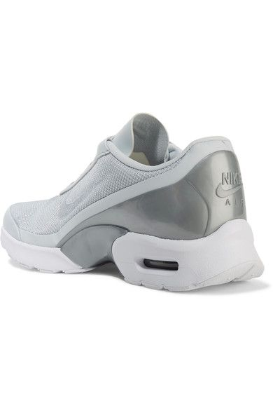 Nike - Air Max Jewell Leather-trimmed Mesh And Plastic Sneakers - Silver - US10.5