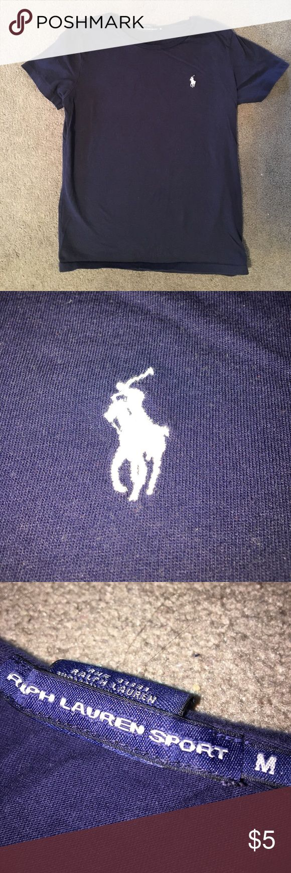 Navy Blue Ralph Lauren Shirt Ralph Lauren shirt, size Medium. Super cute and great for a preppy look! Ralph Lauren Tops Tees - Short Sleeve