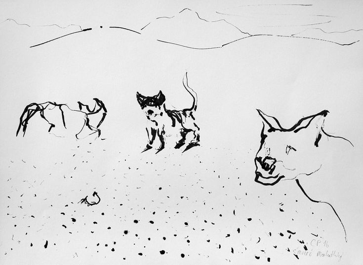 Remembrance view, ink on paper