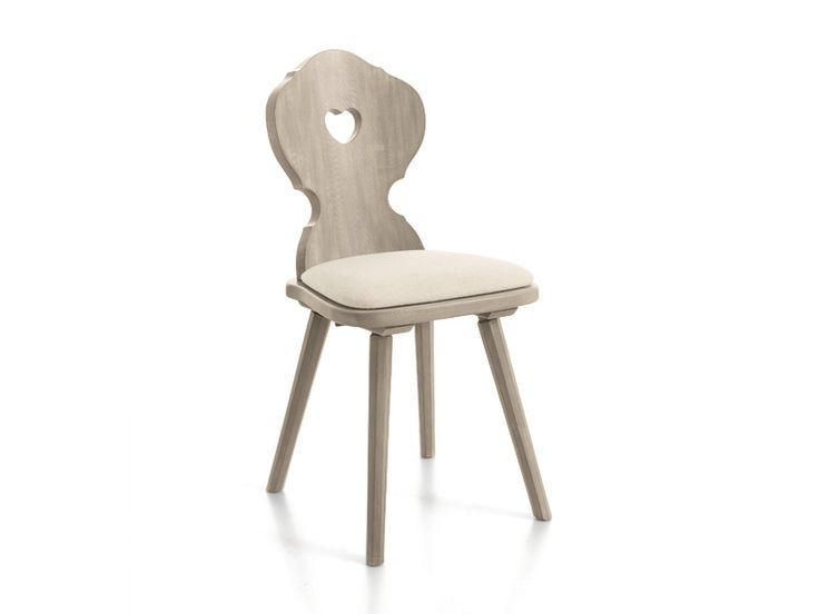 Sedia in legno CORTINA | Sedia imbottita - Scandola Mobili