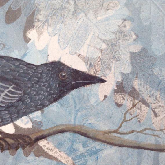 Original Crow card of gelliprint
