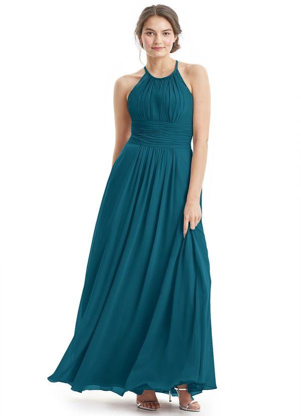 a296d71612e Regina is a breezy floor-length dress made in an A-line cut.  Bridesmaid   Wedding  CustomDresses  AZAZIE .