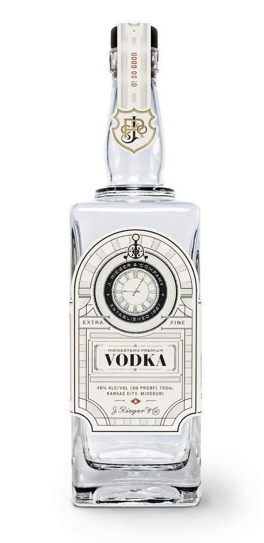 J.Rieger & Company Vodka Packaging