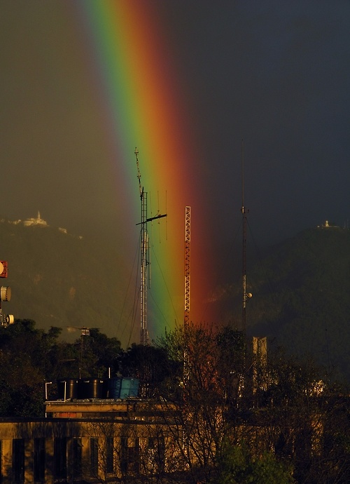 Rainbow over the city of Bogota #Colombia