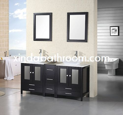 Images Photos Xinda Bathroom Cabinet Co LTD provide the reliable quality wood double vanity and solid