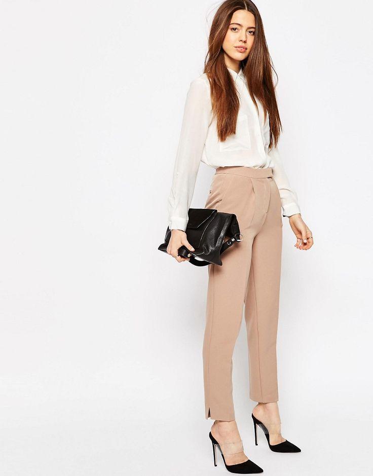 ASOS Luxe Slim Trouser With Split Detail
