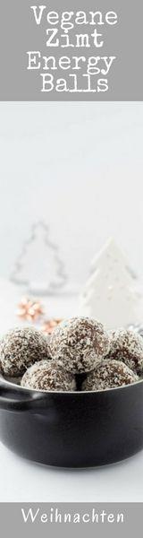 Super lecker & gesund. Zimt Energyballs passen nicht nur in die Weihnachtszeit
