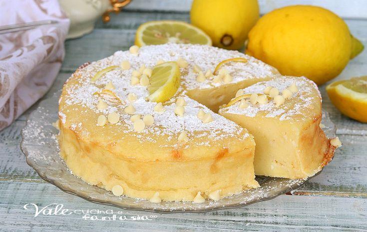 TORTA BUDINO RICOTTA LIMONE E CIOCCOLATO BIANCO, ricetta dolce facile, ricetta torta senza farina e lievito, profumata e golosa