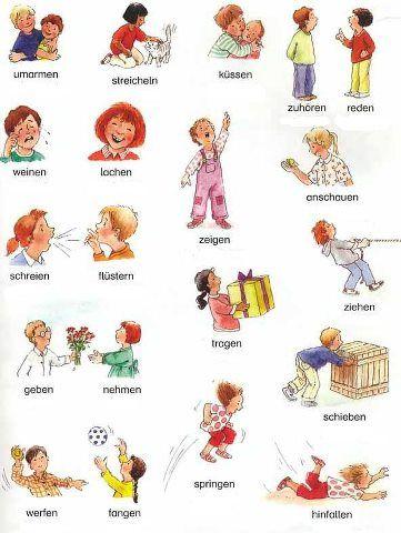 Verben auf Deutsch - Verbos en alemán.  Aprender Alemán - Learn German