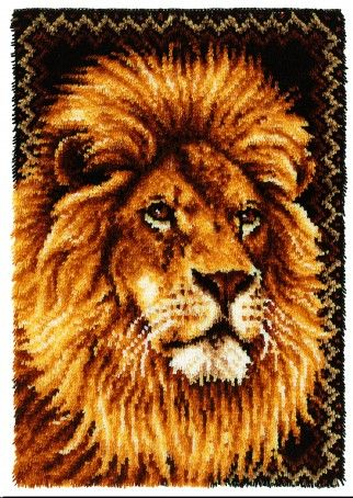 Caron WonderArt Latch Hook Rug Kit Lion | Crafts | Rug Making | Minerva  Crafts